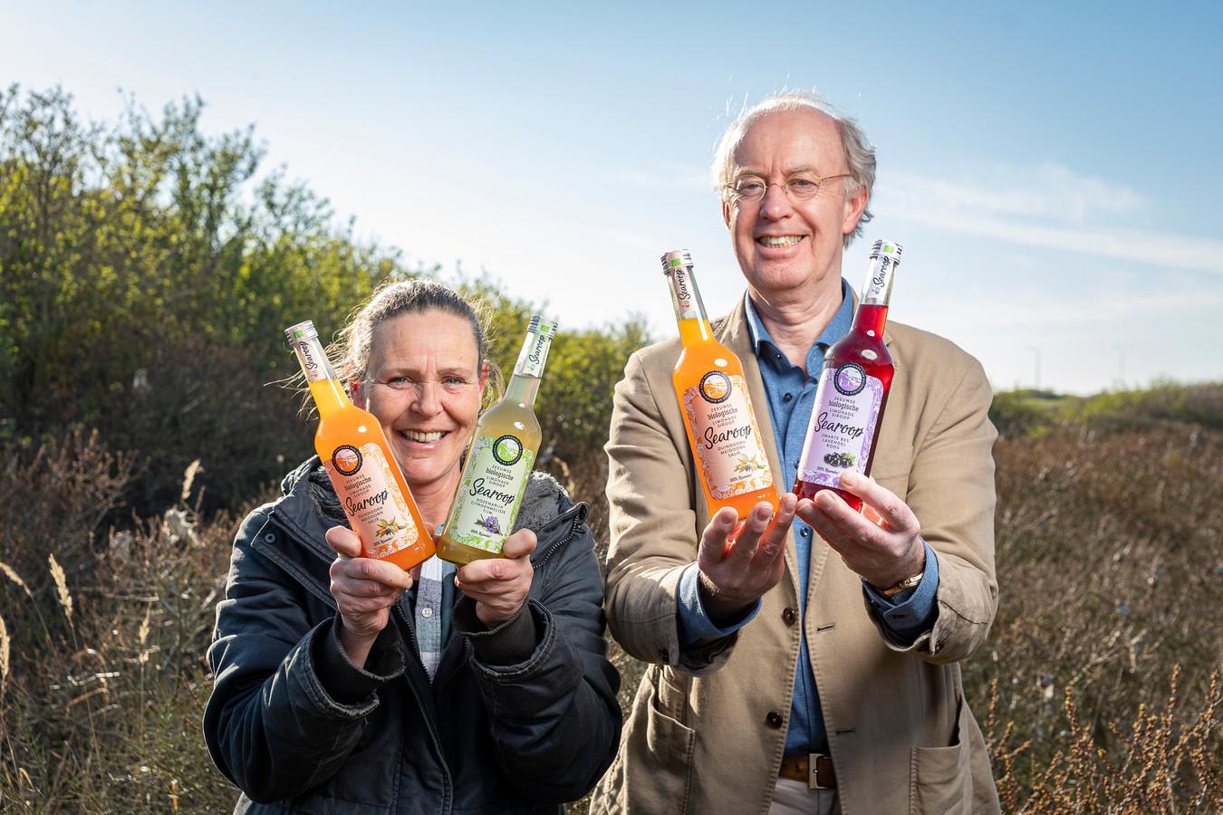 Conny Schoenmakers en Wouter Nolen met Searoop.
