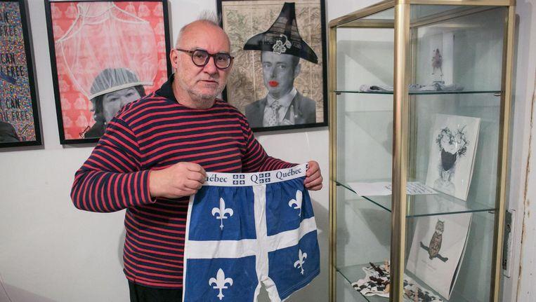 'Dit is geen rare fetisj, maar een maatschappelijk statement. Iedereen is gelijk in de broek', zegt Jan Bucquoy, eigenaar onderbroekenmuseum. Beeld Bas Bogaerts