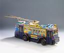 Model van een Arnhemse trolleybus van kunstenaar Willem van Genk.