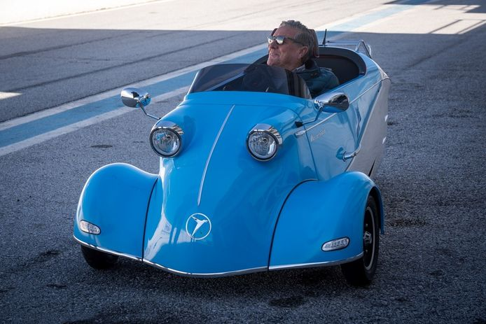 De eigentijdse versie van de Messerschmitt lijkt als twee druppels water op het origineel.