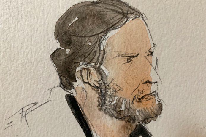 Salah Abdeslam lors du procès des attentats de Paris, le 8 septembre.