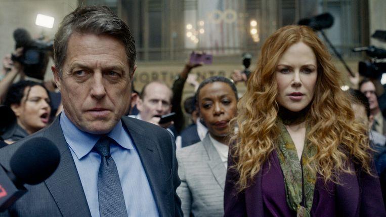 Hugh Grant en Nicole Kidman als upper class-echtpaar in 'The Undoing'. Beeld HBO