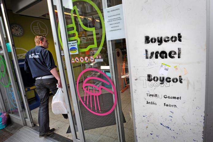 Er wordt vaker actie gevoerd tegen Israëlische producten, hier in Nijmegen.