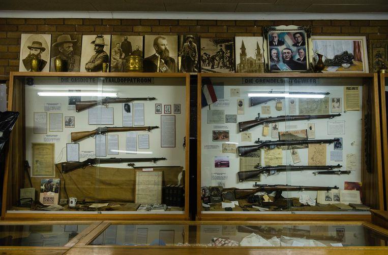Het cultuurhistorisch museum van Orania staat voor het grootste deel in het teken van de strijd die de Afrikaner in het verleden voerde.  Beeld Bram Lammers