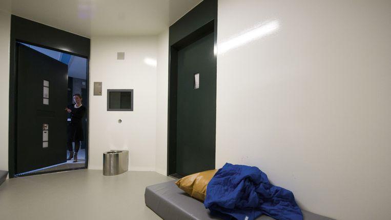 Een isoleercel (separatiecel) in het forensisch psychiatrisch centrum Oostvaarderskliniek in Almere. Beeld ANP