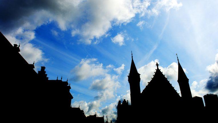 Het Binnenhof met rechts de Ridderzaal, waar dinsdagmiddag de Troonrede wordt uitgesproken. Beeld anp