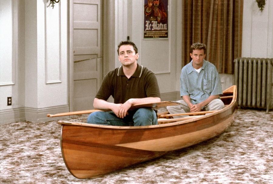 "Joey et Chandler dans ""Friends""."