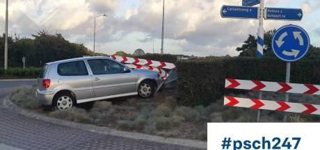 Drugsrijder krijgt rijverbod en crasht nog dezelfde dag tegen rotonde na politieachtervolging