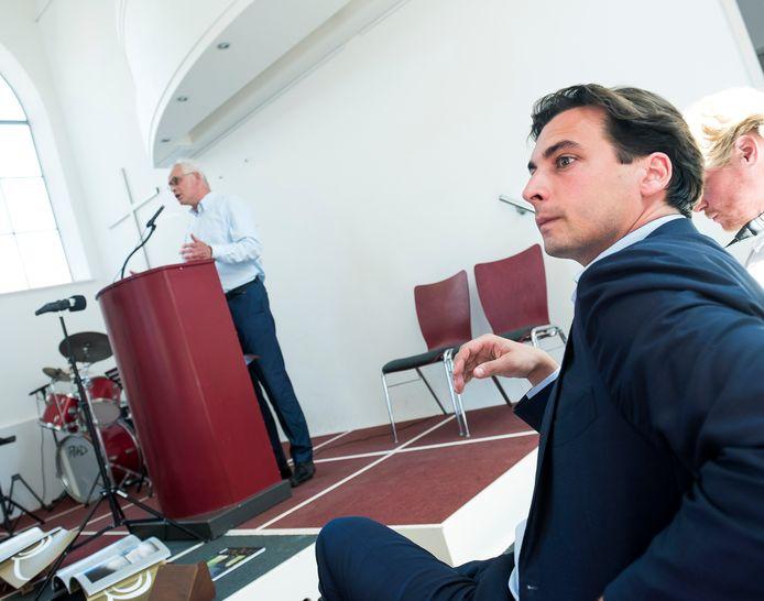 Thierry Baudet bij een spreekbeurt in Gouda, waar hij journalist Bart Jan Spruyt  weer trof.