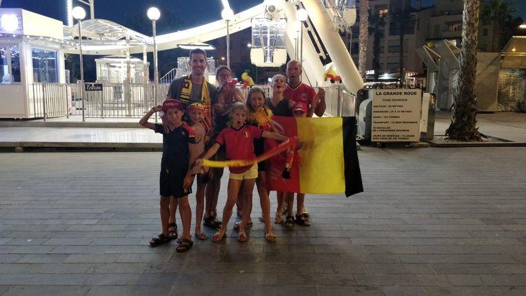 Joris Jacobs met gezin en vrienden in Cap d'Agde.
