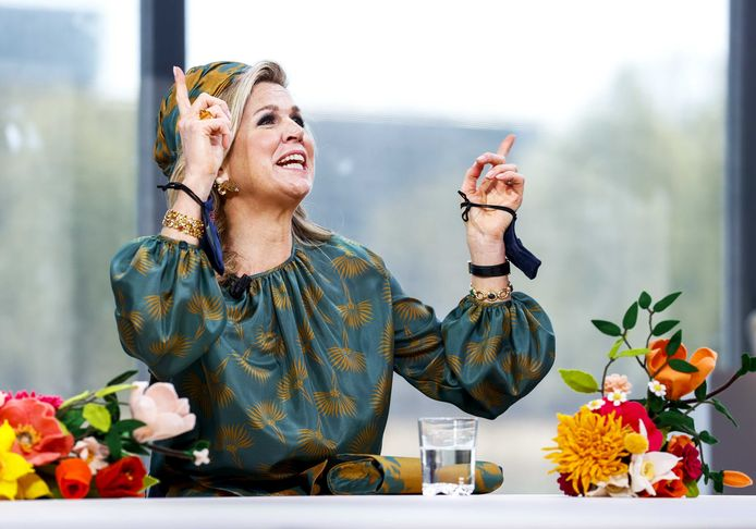 Koningin Maxima tijdens Koningsdag.