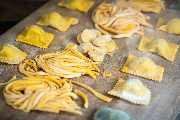 Italian fresh pasta and tortellini ravioli Beeld Getty Images