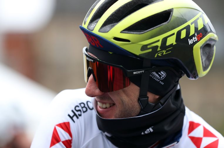 Great Britain's Adam Yates before the Men's Elite Road Race from Leeds to Harrogate. ! only BELGIUM !