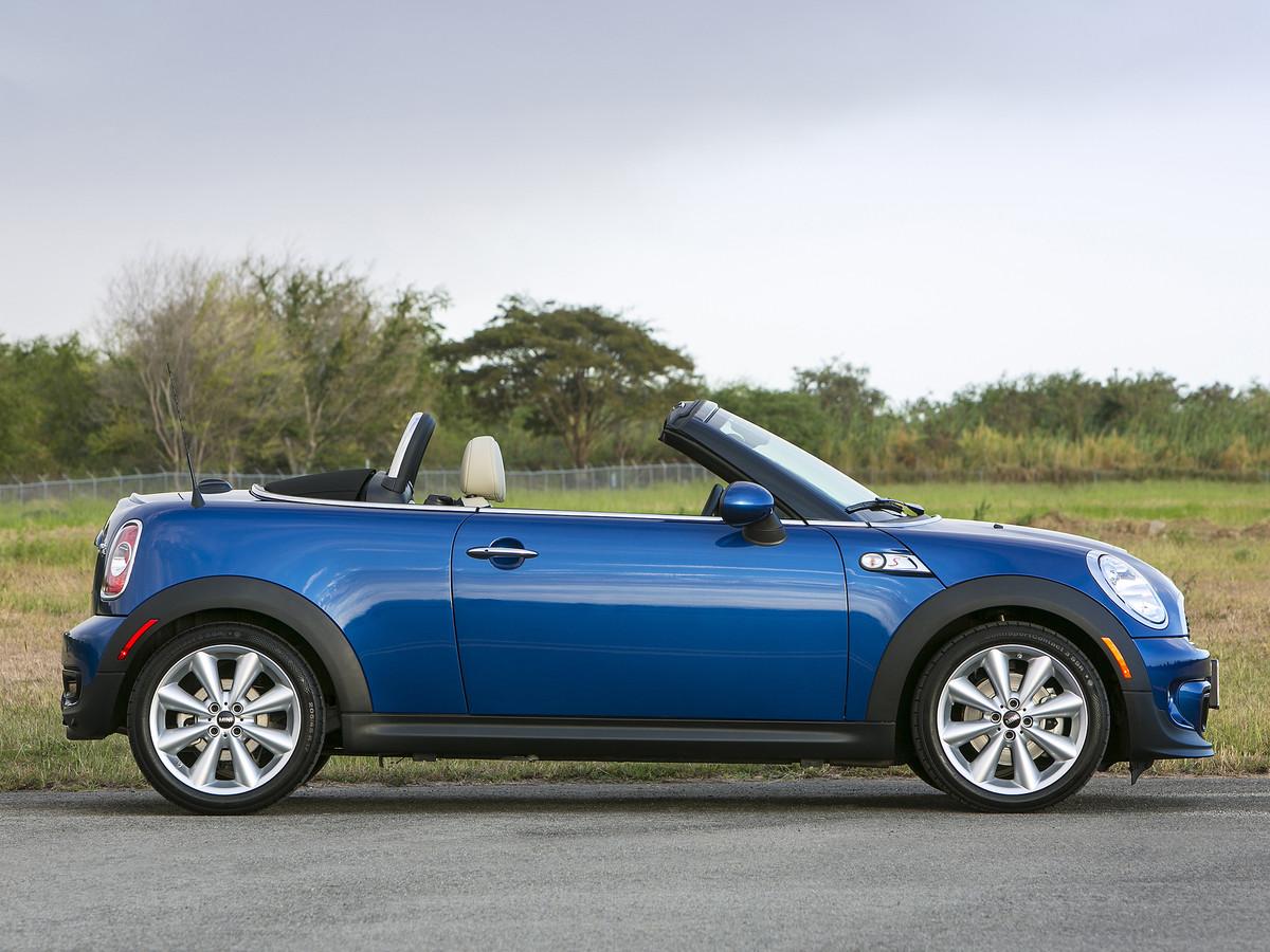 De tweepersoons Mini Roadster is een zeldzame, maar ontzettend leuke cabriolet