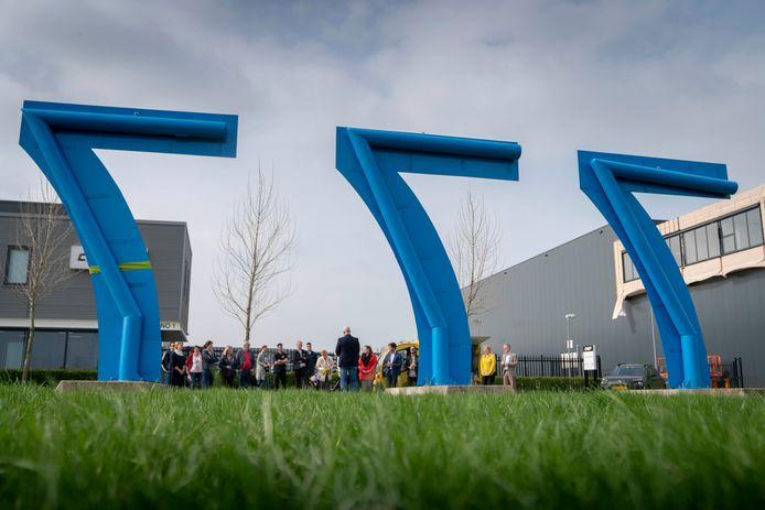 In 2018 zijn drie grote 'zevens' op het bedrijventerrein geplaatst.