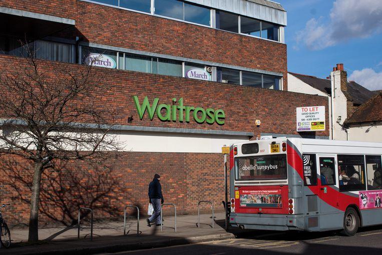 Een filiaal van Waitrose in het Engelse Surrey.  Beeld Getty Images
