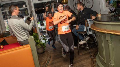 VIDEO. 1.800 sportievelingen lopen dwars door cafés, scholen en zelfs kloosters dankzij 11.trail