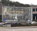 Eén van die affiches was te vinden aan de Europalaan.