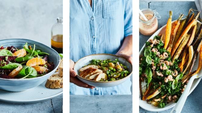 Salades smaken ook in de herfst en deze drie hartige recepten bewijzen dat