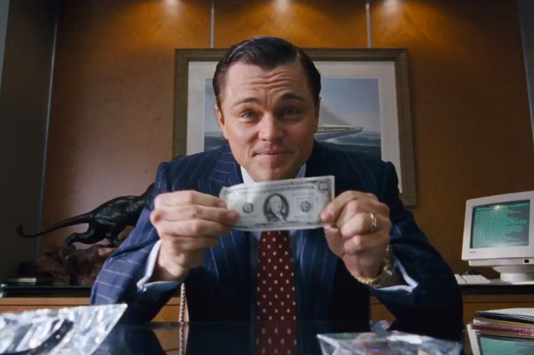 Leonardo DiCaprio in The Wolf of Wall Street Beeld Orestes Laurent