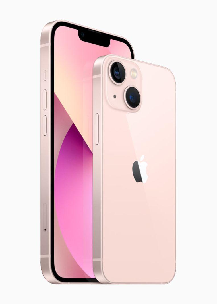 De iPhone 13 en de kleinere iPhone 13 Mini Beeld Apple