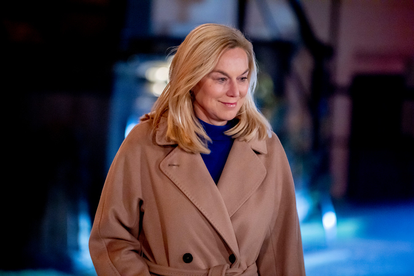 D66-lijsttrekker Sigrid Kaag voorafgaand aan het RTL Verkiezingsdebat zondag.