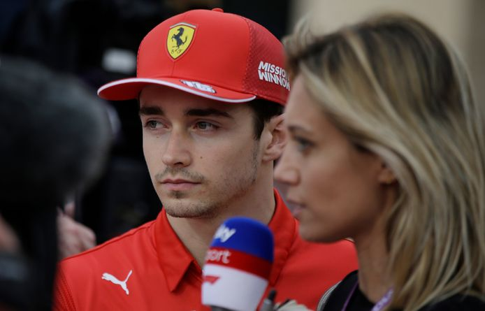 Charles Leclerc, de topfavoriet voor de winst in Bahrein.
