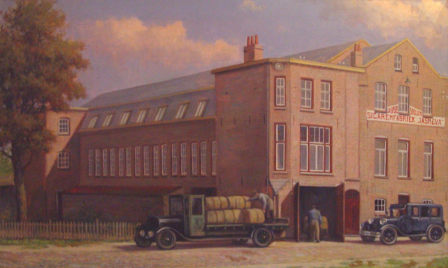 Jasneva (van firma Jaspers-Snellens-Valkenswaard) sigarenfabriek in Valkenswaard.