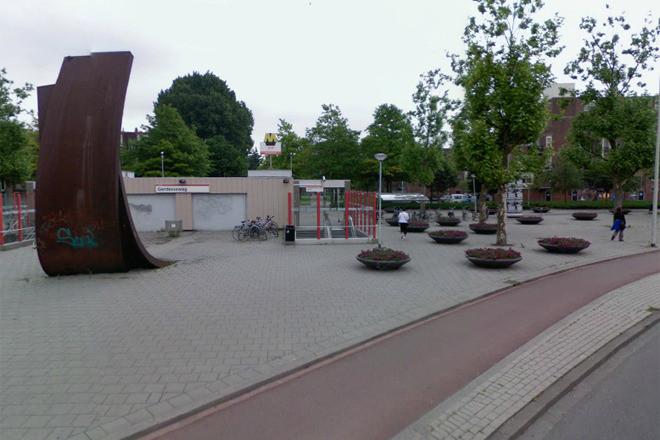 De omgeving van metrostation Gerdesiaweg in Rotterdam.
