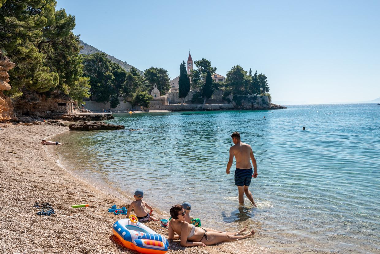 Badgasten in Kroatië. Beeld Getty Images