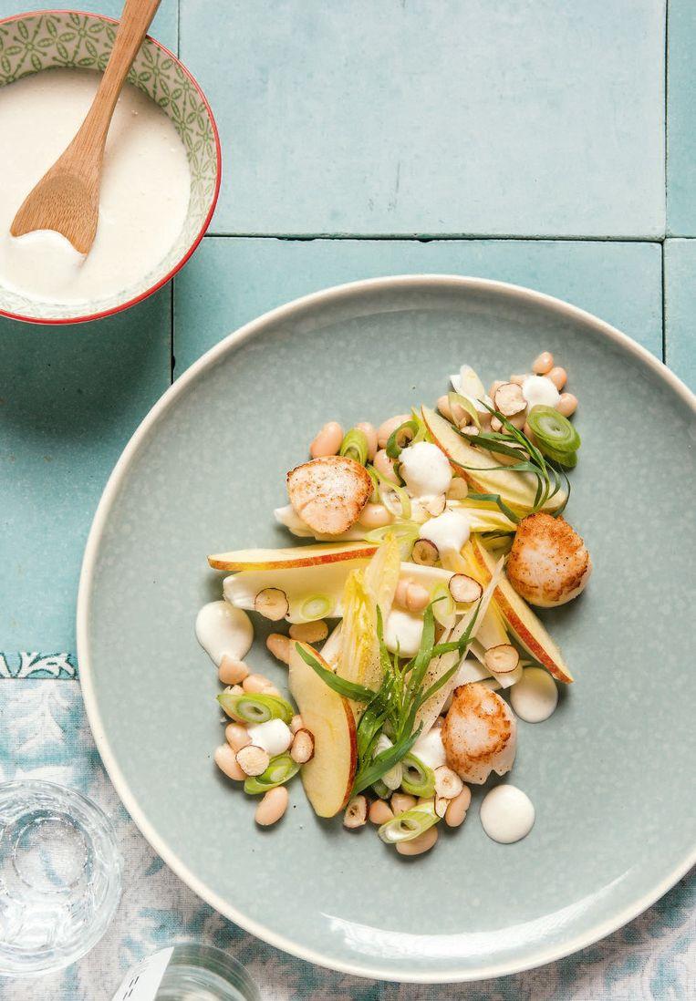 Genoeg Jeroen Meus maakt witloofsalade van witte bonen en sint  #FK26