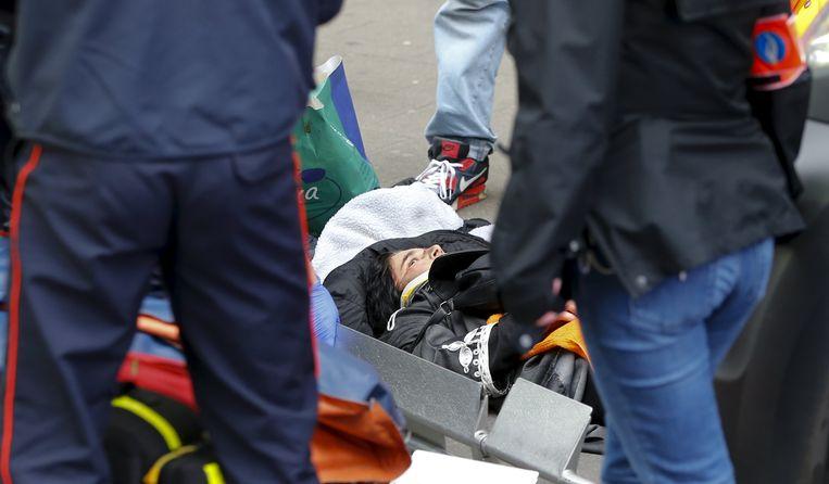 De vrouw liep verschillende breuken en hoofdwonden op. Beeld REUTERS
