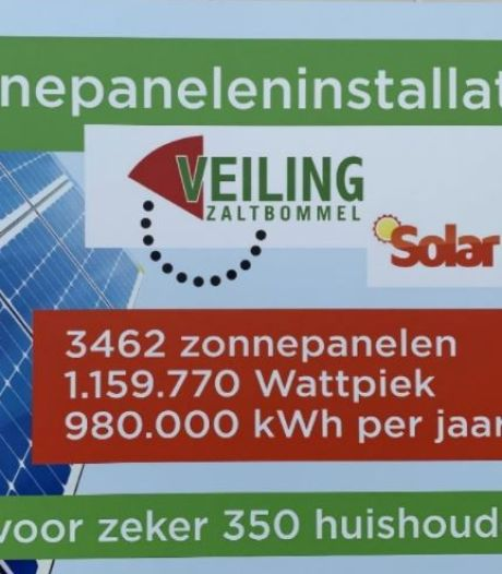 Ook Veiling Zaltbommel heeft nu een zonnedak