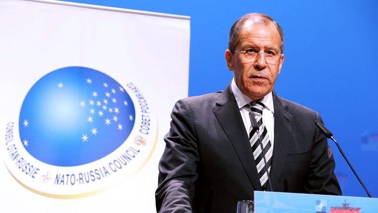 Russische minister van Buitelandse Zaken Sergej Lavrov Beeld ANP