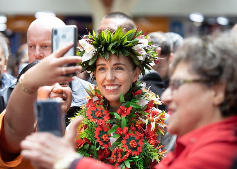 Jacinda Ardern,  de premier van Nieuw Zealand Beeld Bloomberg via Getty Images