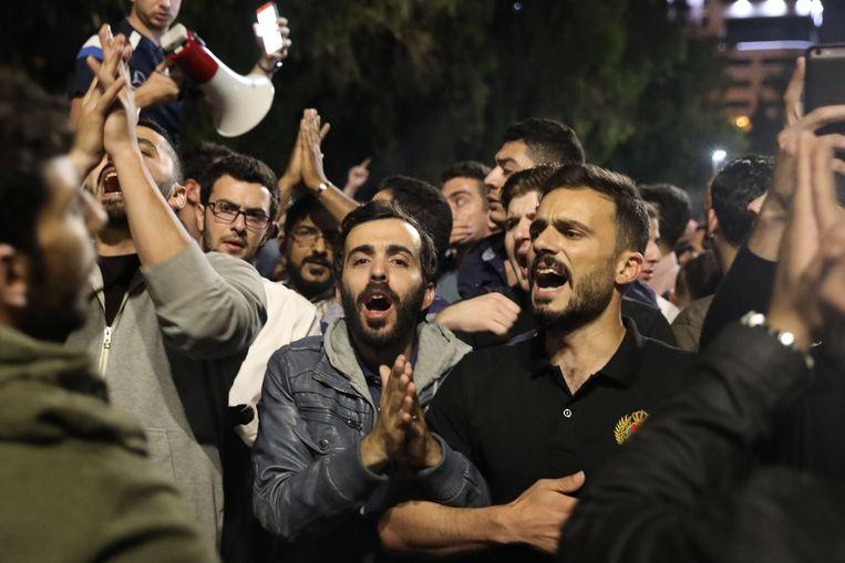 Protest tegen het beleid van premier Hani Mulki. Beeld EPA