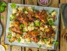 Wat Eten We Vandaag: Teriyaki kippenvleugels met bloemkool