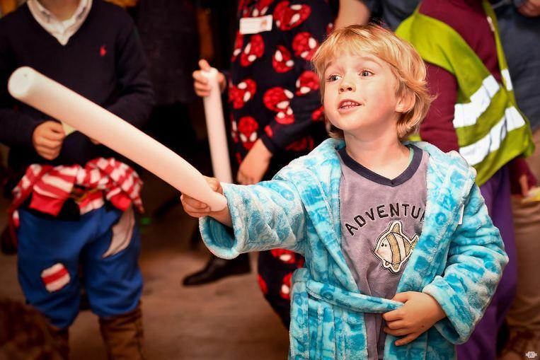 Een sfeerbeeldje van een vorige editie van de pyjamaparty in Lichtervelde.