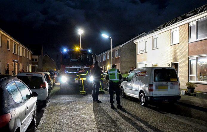 Drie personen gewond bij brand in Hoogerheide. Foto Toby de Kort / MaRicMedia