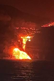 Lava van vulkaan La Palma bereikt de zee, zorg over giftige dampen