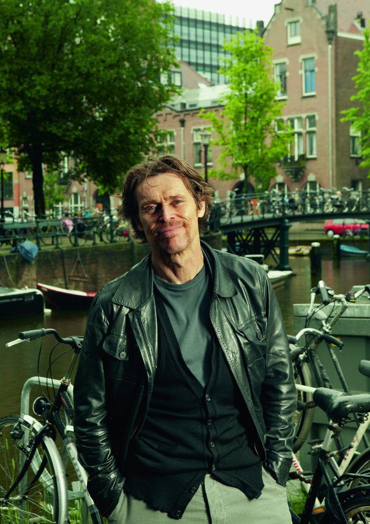 Willem Dafoe, Amerikaans acteur van Wild At Heart tot A Most Wanted Man. Aan het begin van zijn loopbaan deed hij aan experimenteel theater in het Mickery Theater in Amsterdam: 'Het culturele klimaat is hier omgeslagen. Deze stad was vroeger veel vrijer en experimenteler' Beeld Marte Visser