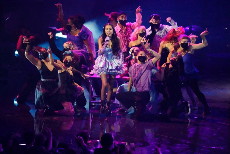 Olivia Rodrigo op de VMA's.  Beeld Charles Sykes/Invision/AP
