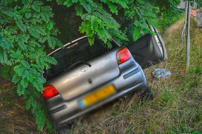Ongeval aan de Oeienbosdijk in Veldhoven.