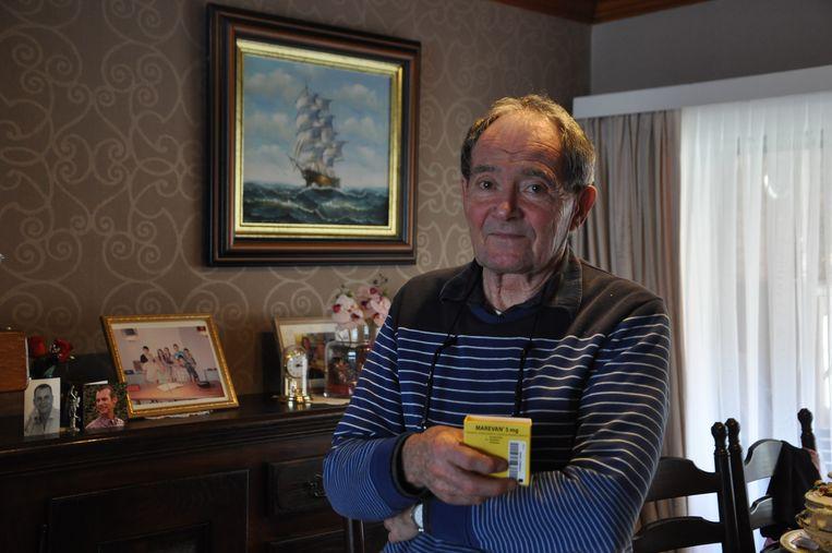Werner Van de Voorde (78) kan binnenkort mogelijk niet meer aan zijn medicijn geraken.
