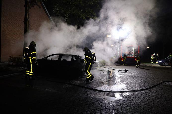 Autobrand Meierijlaan Kaatsheuvel.