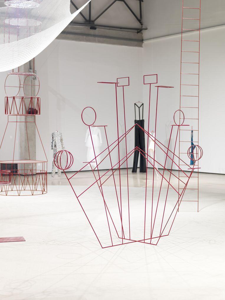 Taus Makhacheva, detail uit de installatie Charivari (2019). Beeld Pat Verbruggen