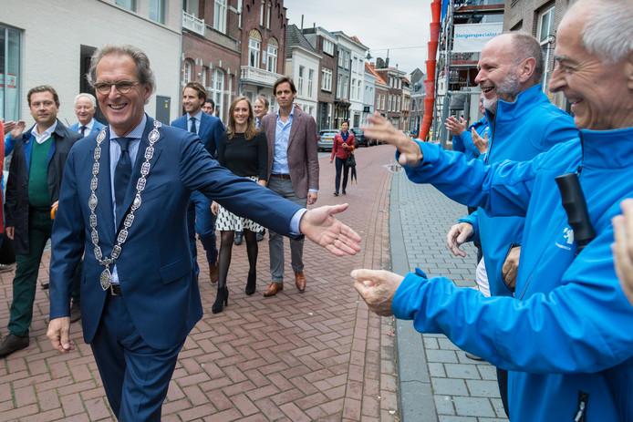 Afscheid van ex-burgemeester Ton Rombouts van de gemeente Den Bosch.