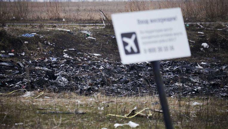 De rampplek in het oosten van Oekraïne, begin 2015 Beeld ANP
