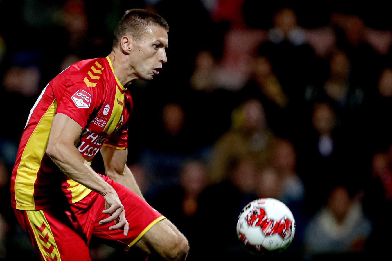 Alexander Bannink maakt vrijdag tegen Roda JC zijn rentree als basisspeler bij Go Ahead Eagles. De Tukker vervangt de geschorste Richard van der Venne.