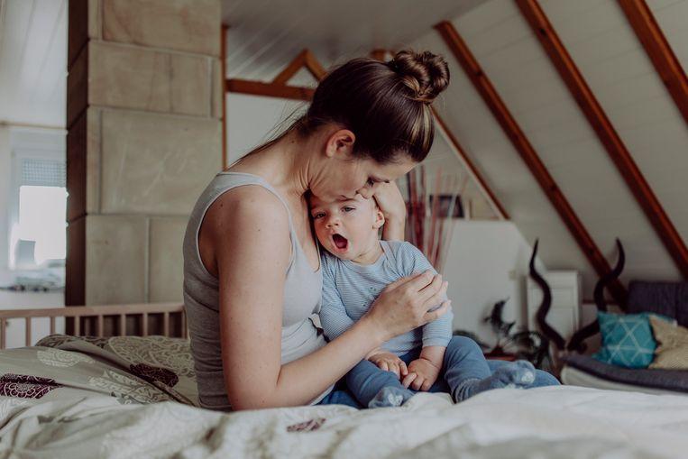 Moeder met slaaptekort? Dan is je biologische leeftijd 7 jaar ouder Beeld Getty Images/Westend61